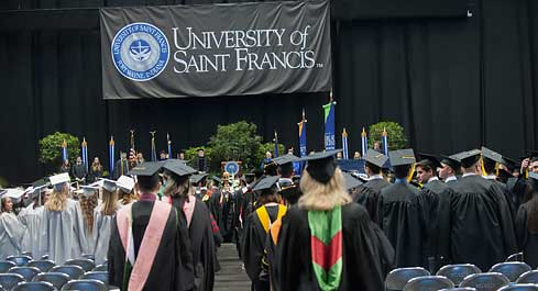 Faculty processional during commencement